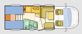 Adria Matrix Supreme M 687 SL - Plano - Distribución