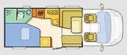 Adria Coral Plus S 650 SF - Plano - Distribución