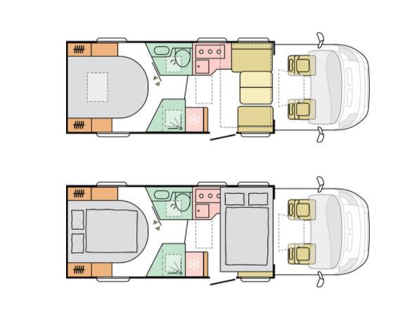 Adria MATRIX Plus M 670 DC - Plano - Distribución