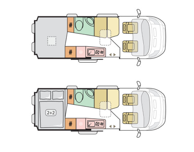 Adria Twin Supreme 640 SPB Family - Plano - Distribución