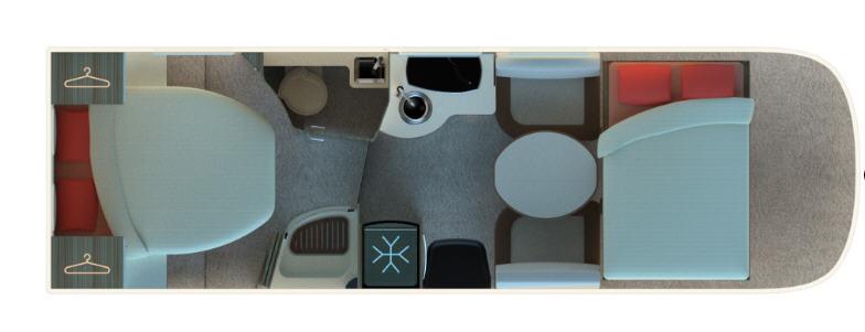 Autostar PRIVILEGE I730LC LIFT - Plano - Distribución