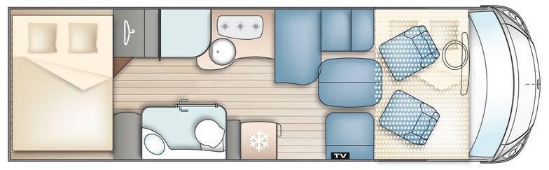 Bavaria Fjord Nordic Edition I 7802 LG - Plano - Distribución