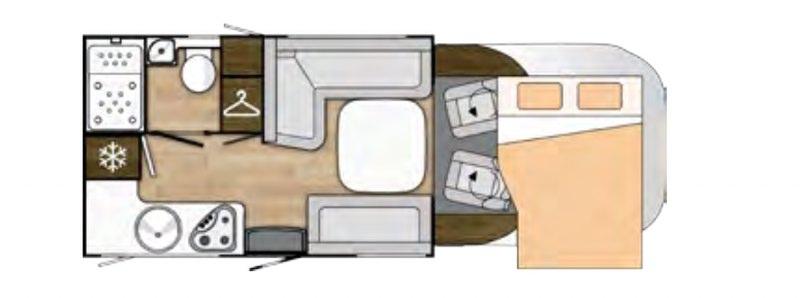 Benimar TESSORO T481 - Plano - Distribución