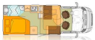 Bürstner Ixeo it 664 - Plano - Distribución
