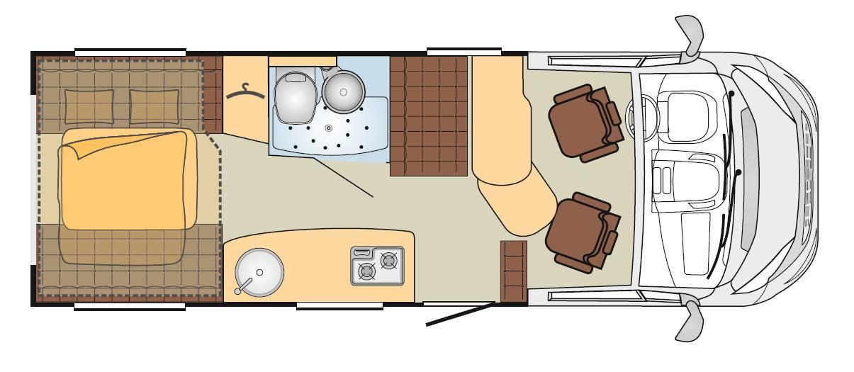 Bürstner Brevio T 645 - Plano - Distribución