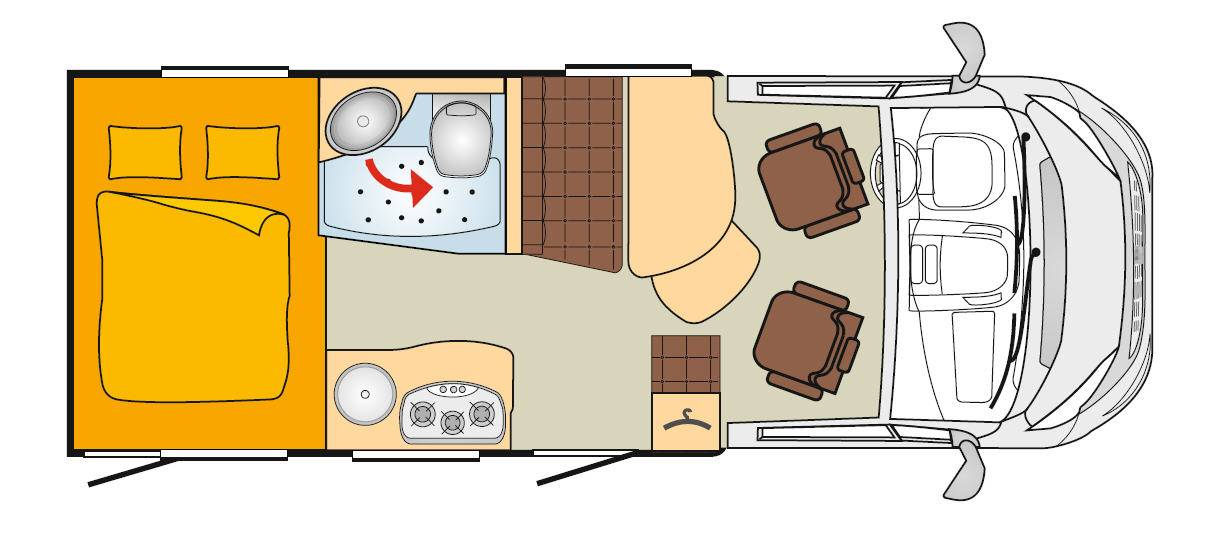 Bürstner Travel Van T 590 G - Plano - Distribución