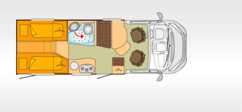 Bürstner Travel Van T620G - Plano - Distribución