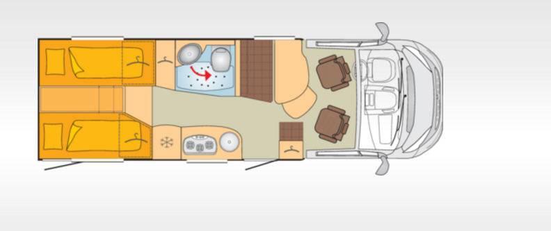 Bürstner Travel Van T690G - Plano - Distribución