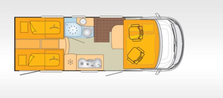 Bürstner Aviano I690G - Plano - Distribución