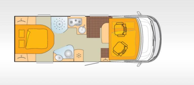 Bürstner Aviano I700 - Plano - Distribución