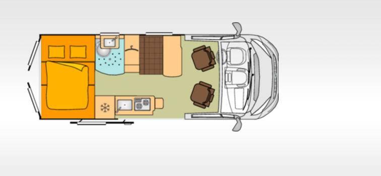 Bürstner City Car C 600 - Plano - Distribución