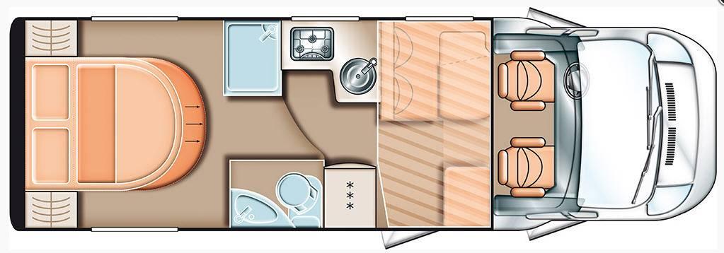 Carado T 449 2x2 - Plano - Distribución