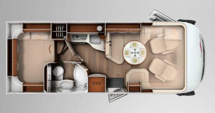 Carthago chic e-line 44 Yachting - Plano - Distribución