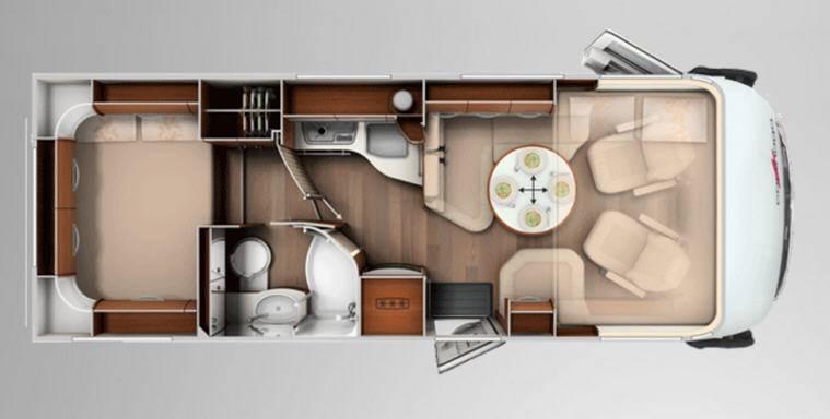 Carthago chic e-line 47 Yachting - Plano - Distribución