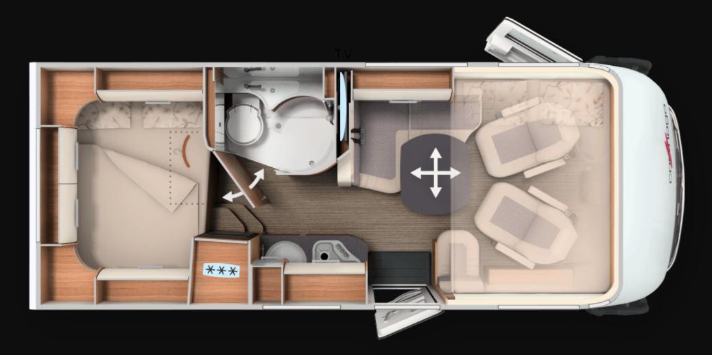 Carthago C-Compactline I 138 DB - Plano - Distribución