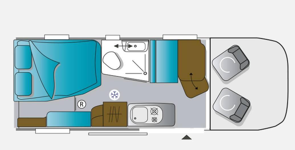 Challenger Vany 8 ACTIVE - Plano - Distribución