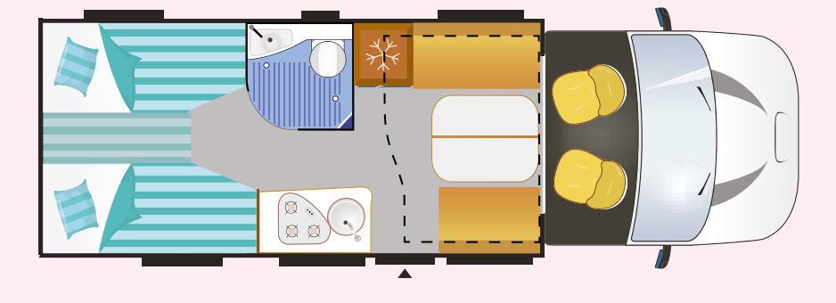 Challenger Graphite Edition 347 GA - Plano - Distribución