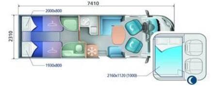 Ci RIVIERA PERFILADAS RIVIERA 86 P - Plano - Distribución
