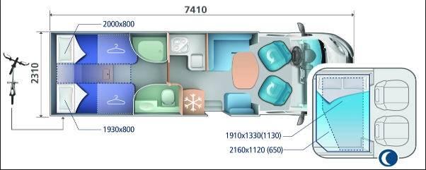 Ci RIVIERA BASCULANTES RIVIERA 85 XT - Plano - Distribución