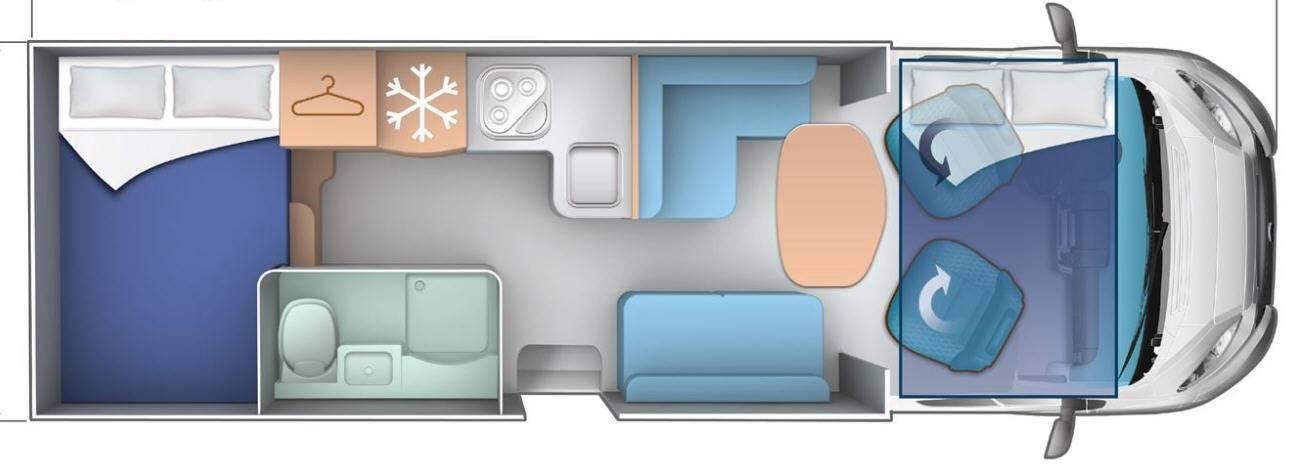 Ci Riviera/Granduca R 98 XT/ G298 TL - Plano - Distribución
