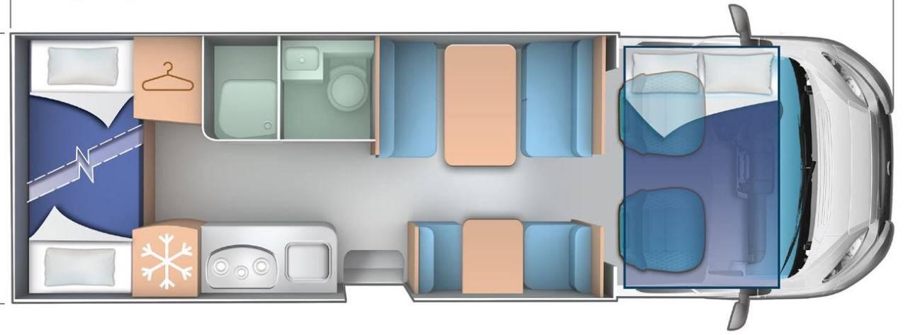 Ci Riviera/Granduca R 75/G275 - Plano - Distribución