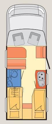 Dethleffs Globebus T - 4 - Plano - Distribución