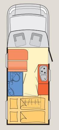 Dethleffs Globebus T - 15 - Plano - Distribución