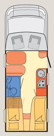 Dethleffs Advantage T/I T-6611 - Plano - Distribución