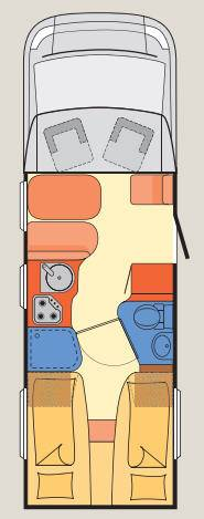 Dethleffs Advantage T/I T-7051-EB - Plano - Distribución