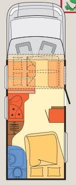 Dethleffs Globe 4 T T-6801 - Plano - Distribución