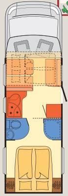 Dethleffs Globe 4 T T-7151 - Plano - Distribución