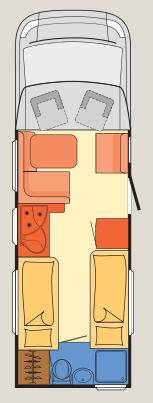 Dethleffs Esprit Comfort A / T / I T-7010-2 - Plano - Distribución
