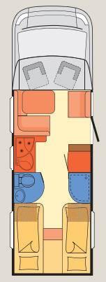Dethleffs Esprit Comfort A / T / I T-7150-2 EB - Plano - Distribución