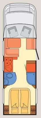 Dethleffs Esprit Comfort A / T / I T-7150-2 DBM - Plano - Distribución
