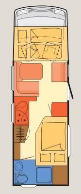 Dethleffs Esprit Comfort A / T / I I-7090-2 - Plano - Distribución