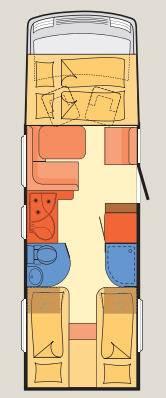 Dethleffs Esprit Comfort A / T / I I-7150-2 EB - Plano - Distribución