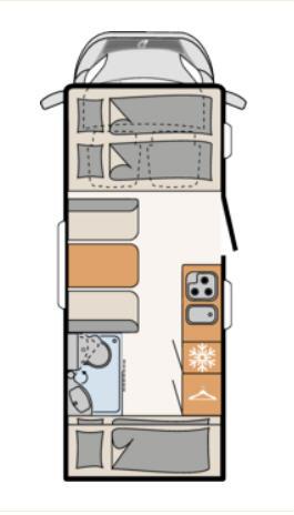 Dethleffs TREND A-5887 - Plano - Distribución