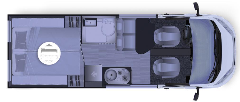 Dreamer FUN D60 FUN - Plano - Distribución