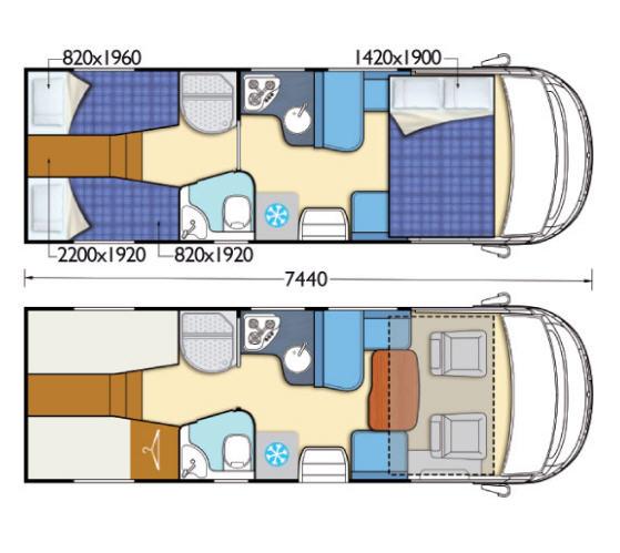 Elnagh I-LOFT 530 - Plano - Distribución