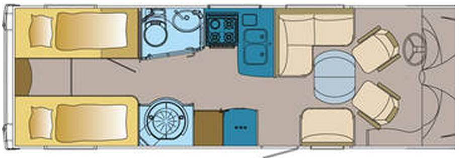 Frankia FIAT DUCATO I 790 - Plano - Distribución