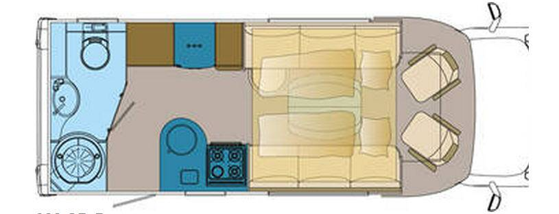 Frankia FIAT DUCATO T 680 SD-B - Plano - Distribución