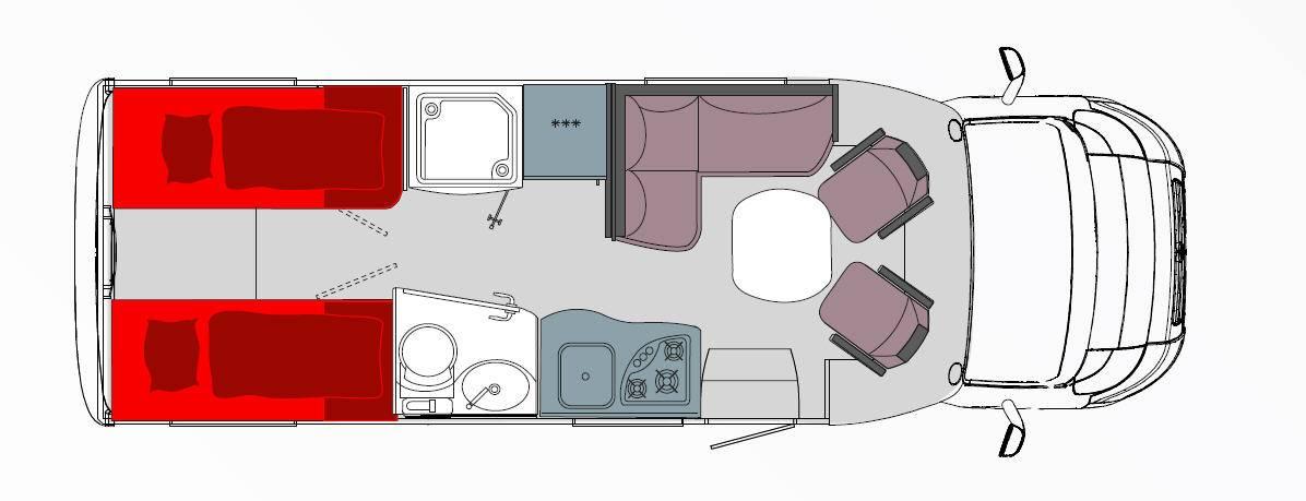 Frankia Mercedes Srpinter T 6800 GD - Plano - Distribución