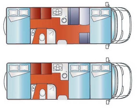 Giottiline CAPUCHINO T 45 - Plano - Distribución