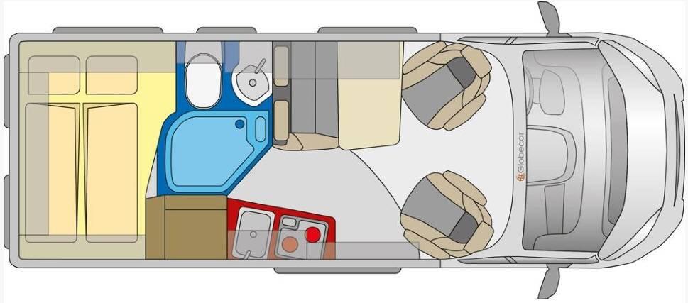 Globecar D-LINE Globestar 600 W - Plano - Distribución