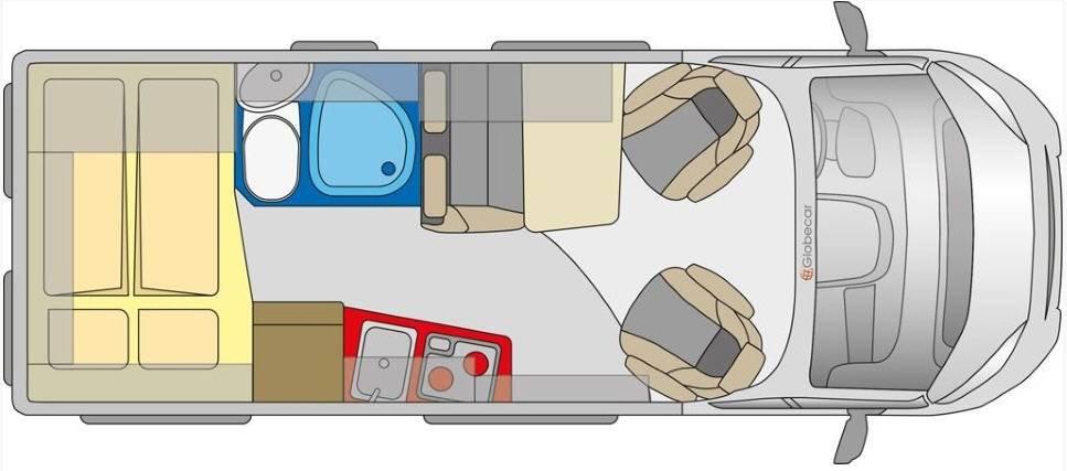 Globecar D-LINE Globescout - Plano - Distribución