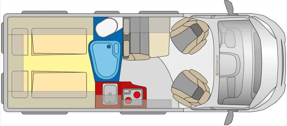 Globecar D-LINE Globestar 600 L Revolution - Plano - Distribución