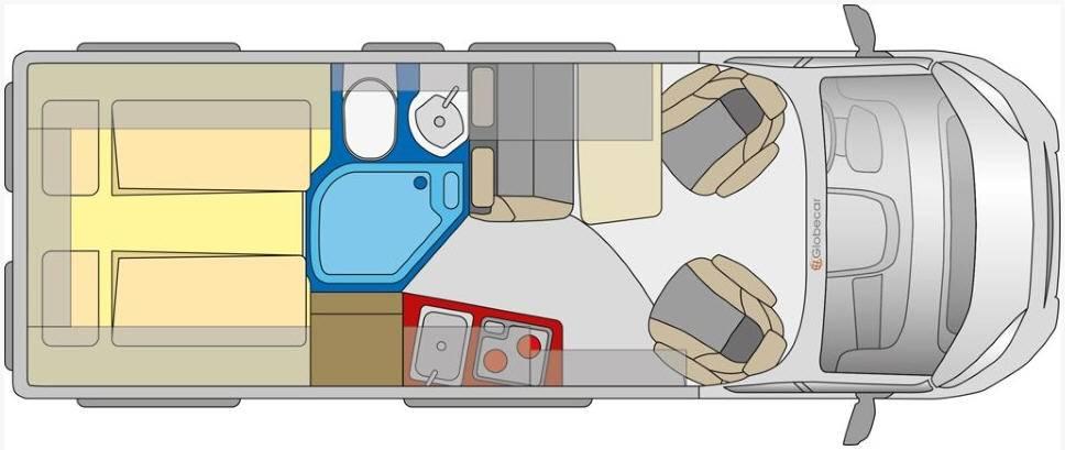 Globecar D-LINE Campscout Revolution (Heavy) - Plano - Distribución