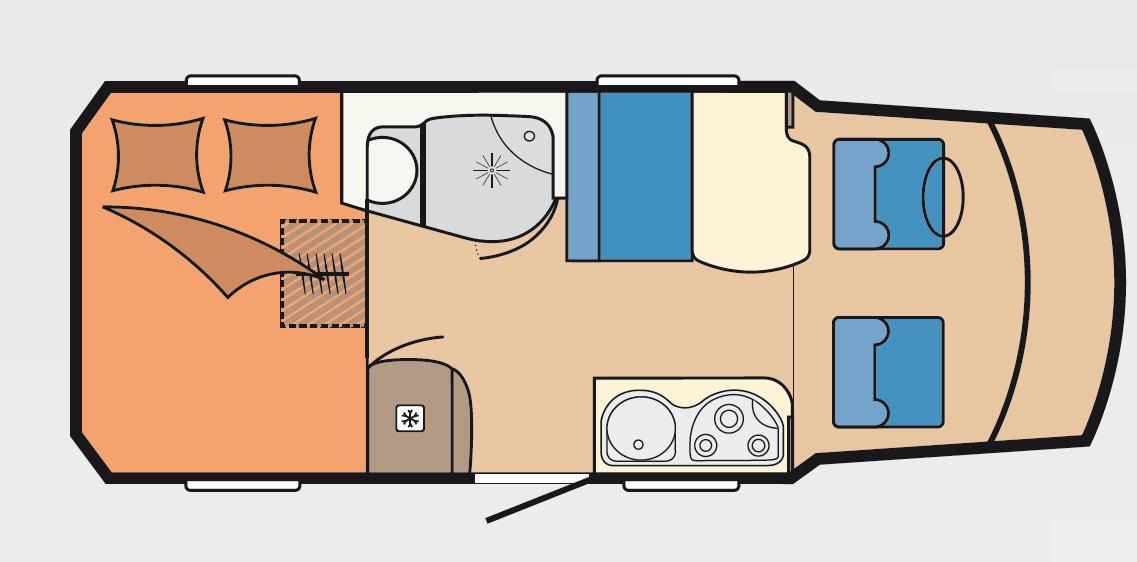 Hobby Premium Van 55 GF - Plano - Distribución