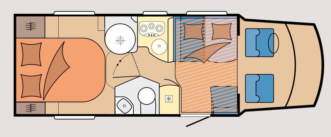 Hobby Optima T 70 HQ Luxe - Plano - Distribución