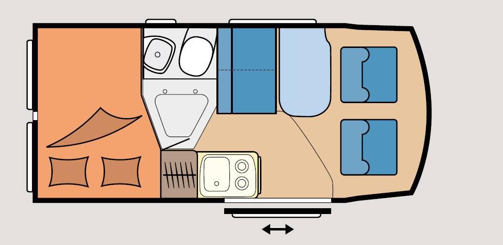 Hobby Vantana K 55 - Plano - Distribución